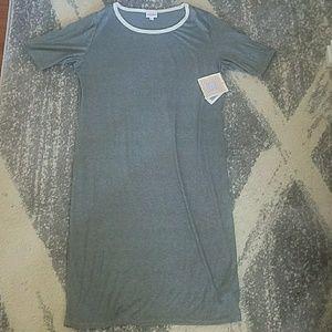 LuLaRoe Julia Dress sz XL NEW gray